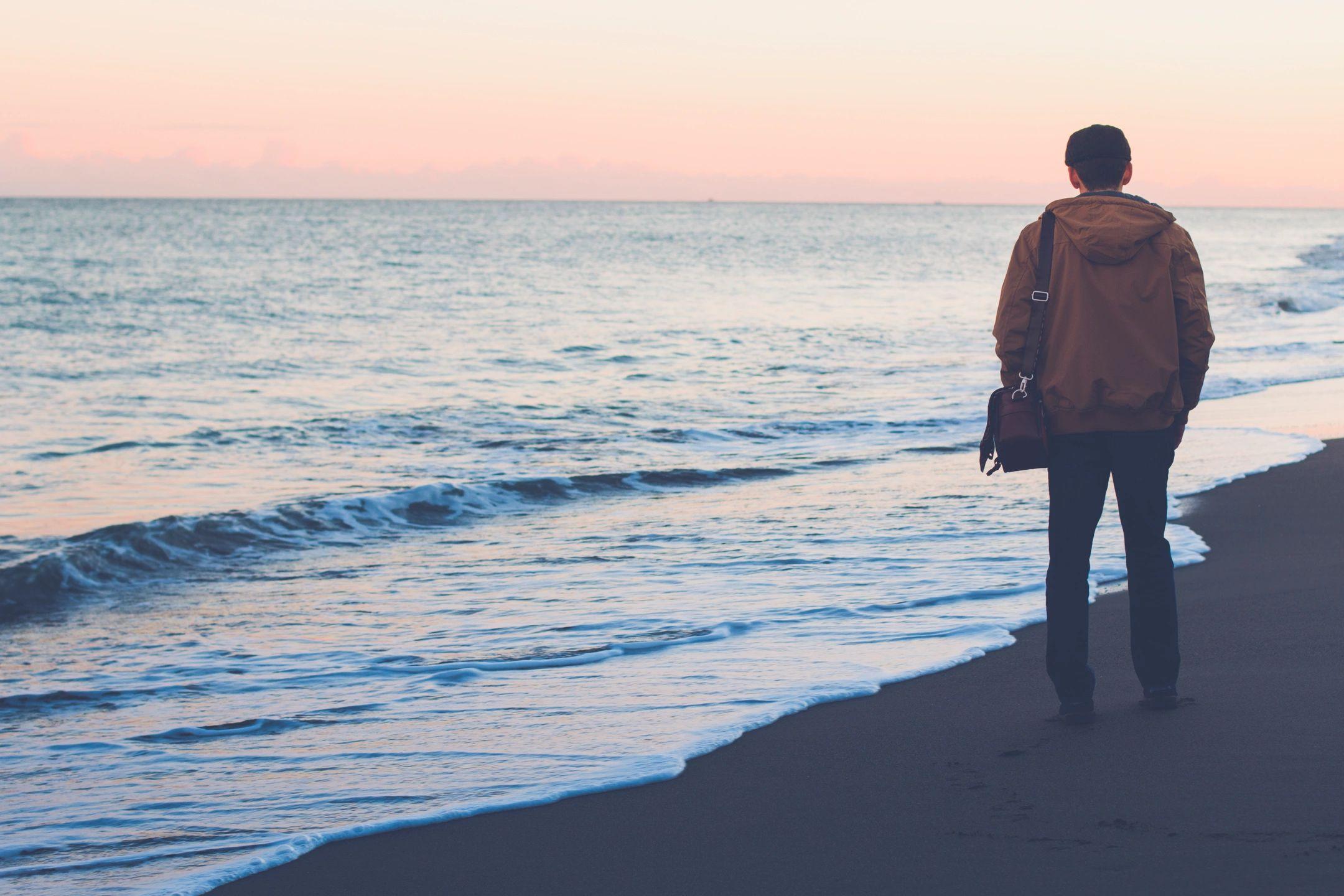 a man at a beach
