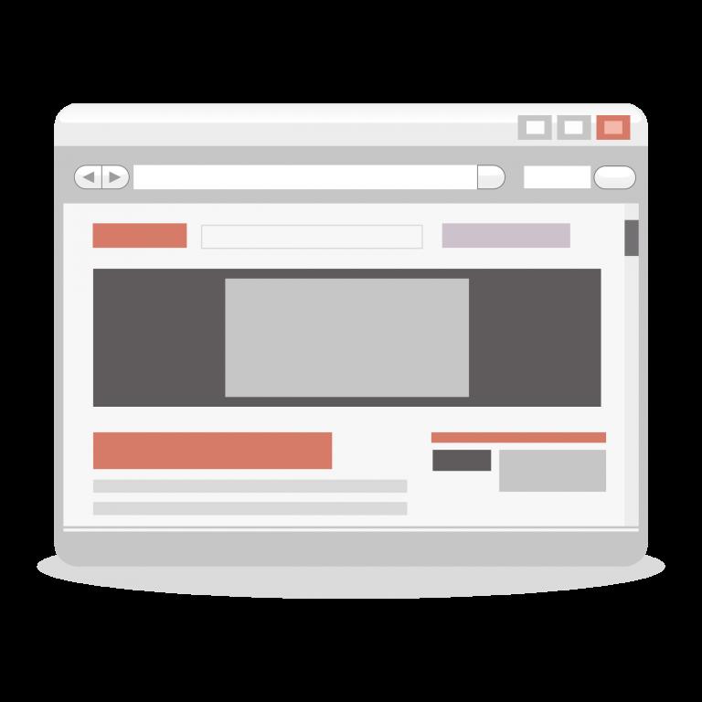 Black and White Website illustration