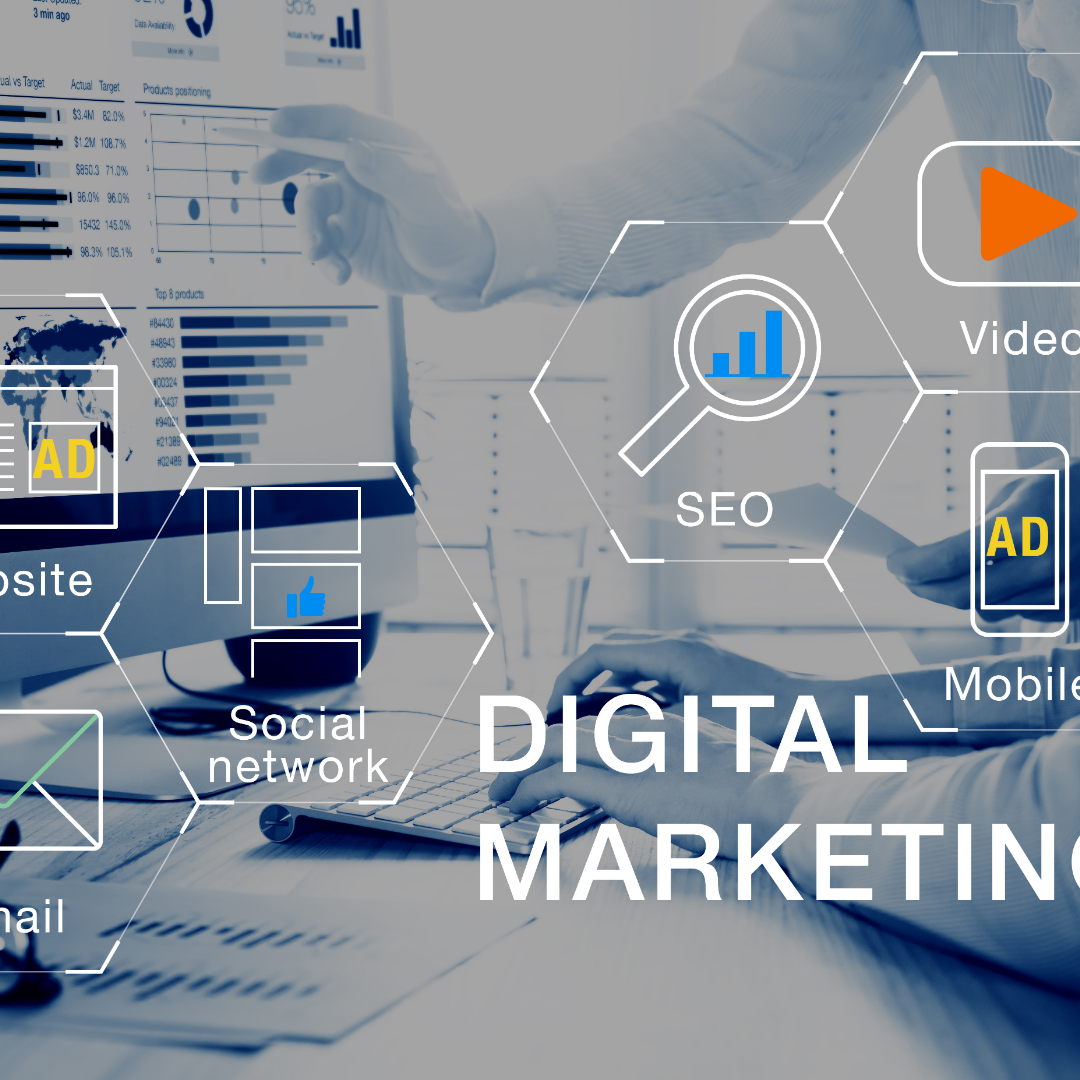 Digital Marekting components along with analytics